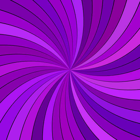 Purple abstract psychedelic swirl background from striped rays