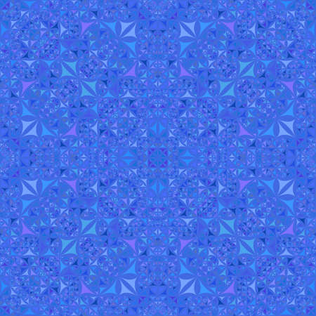 Blue seamless kaleidoscope pattern background design