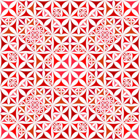 Red abstract seamless curved triangle kaleidoscope pattern wallpaper