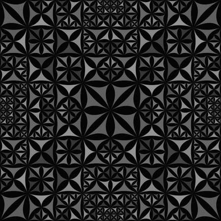 Green repeating kaleidoscope pattern background