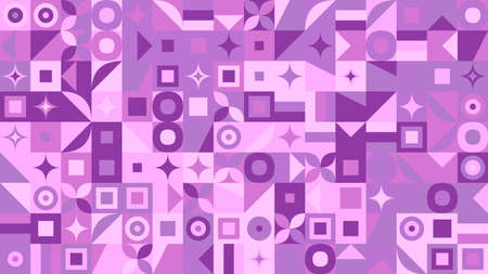 Chaotic colorful abstract geometric pattern hd background Ilustrace