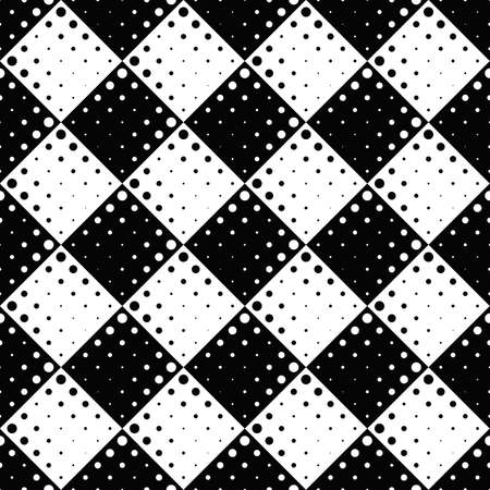 Seamless dot pattern background - monochrome abstract vector graphic