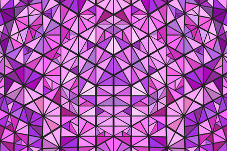 Abstract polygonal radial tiled triangle mosaic web background