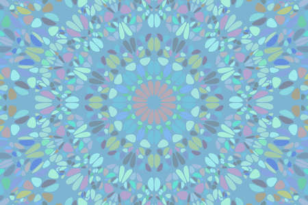 Colorful abstract circular floral pattern landing page background