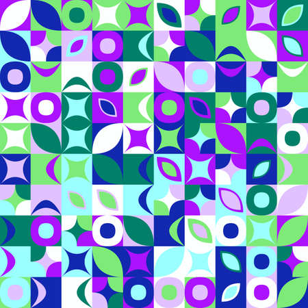 Abstract geometric pattern background - colorful vector graphic design Ilustrace