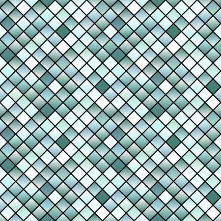 Gradient seamless square pattern background - colorful vector design