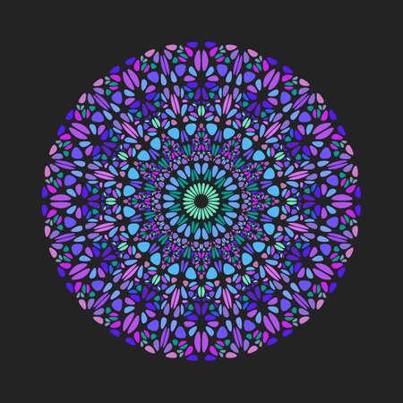 Abstract round colorful flower pattern mandala art