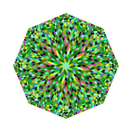 Isolated abstract geometrical tiled mosaic octagon polygon shape Ilustrace
