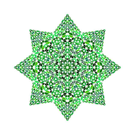 Isolated geometrical floral ornament star symbol template Ilustracja