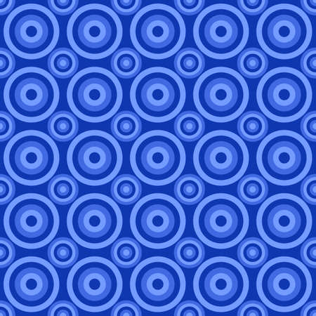 Geometrical circle pattern design background - colored vector graphic