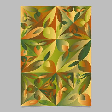 Geometrical multicolor triangular flower brochure background design