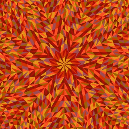 Hypnotic geometrical radial tiled triangle mosaic background design Ilustrace