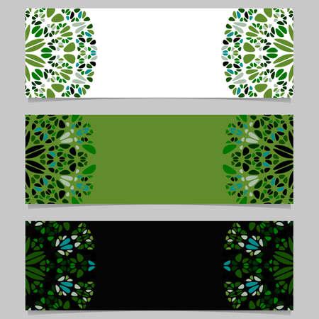 Abstract colorful geometrical stone mandala banner background set