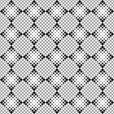 Black and white abstract diagonal square pattern background Ilustrace