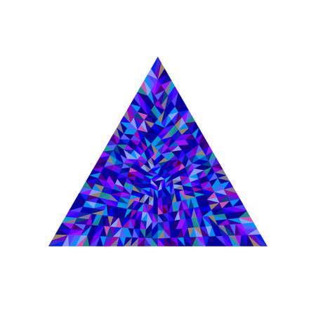 Geometrical isolated colorful tiled mosaic triangle shape