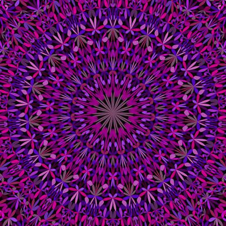 Purple floral ornate mandala pattern background Banque d'images - 138250964