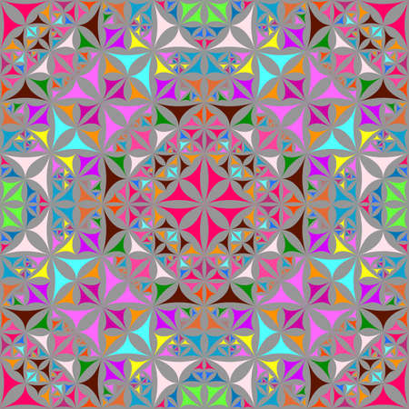 Colorful seamless kaleidoscope pattern background 写真素材