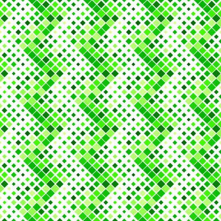 Seamless abstract green geometrical square pattern background design