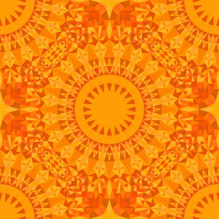 Seamless abstract oriental triangle mandala pattern background