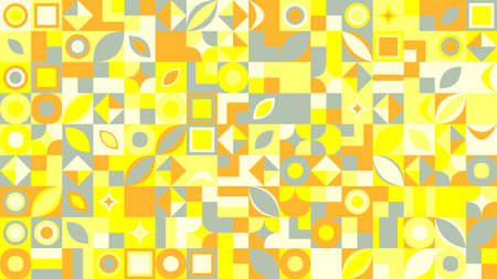 Colorful chaotic abstract mosaic pattern background design