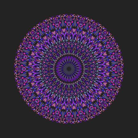 Colorful geometrical circular round petal pattern mandala