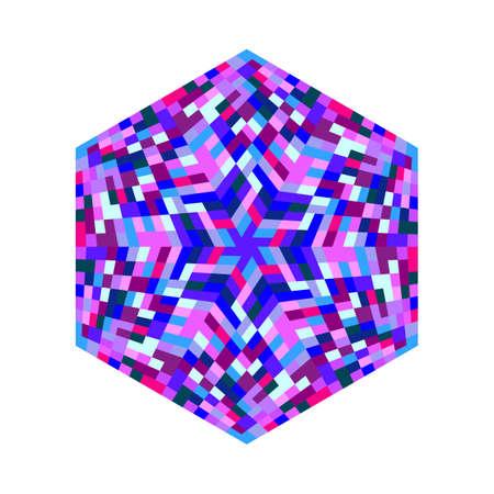 Geometrical abstract tiled mosaic ornament hexagon symbol