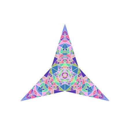 Polygonal isolated tiled mosaic ornament star polygon