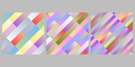 Seamless diagonal stripe pattern background design set - abstract vector graphic Ilustrace