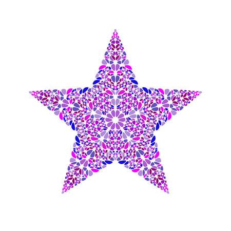 Abstrakte isolierte bunte Blütenblatt-Stern-Logo-Vorlage - dekoratives Vektorelement aus gebogenen Formen