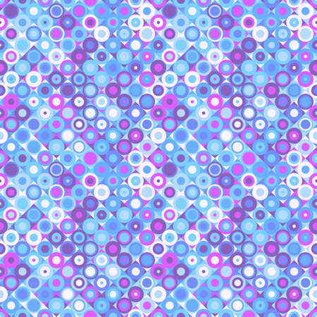 Geometrical colorful circle pattern background - seamless vector graphic Ilustrace