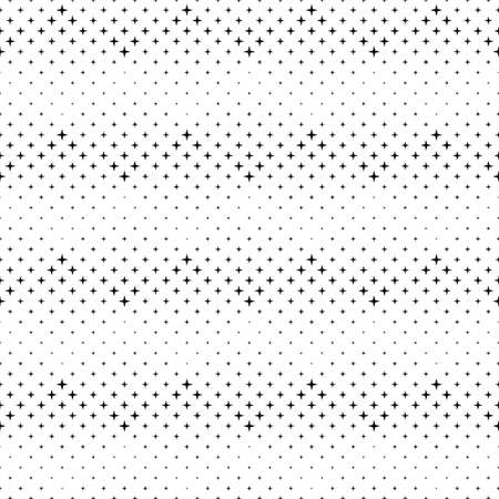 Black and white seamless abstract star pattern background