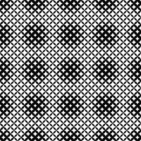 Black and white geometrical seamless star pattern background Illustration