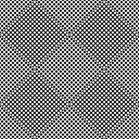 Abstract dot pattern background - black and white vector graphic design