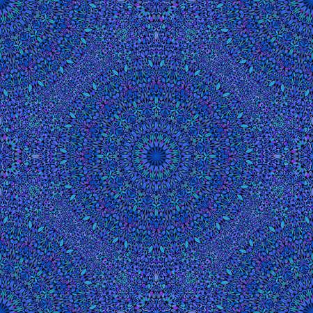 Diseño de fondo de patrón de mandala floral oriental bohemio azul real Ilustración de vector