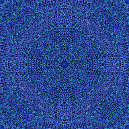 Royal blue bohemian oriental floral mandala pattern background design Vector Illustratie