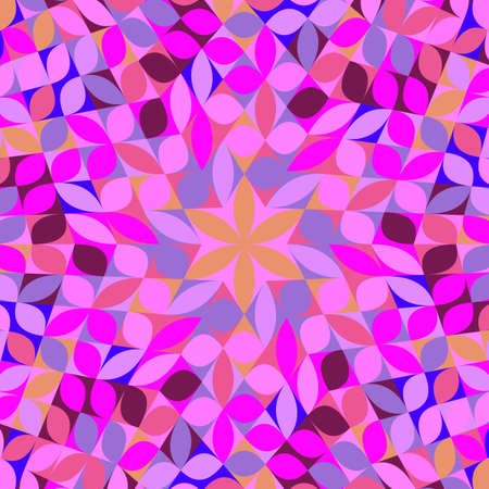 Abstract hypnotic radial tiled pattern mosaic background