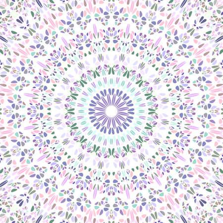 Geometrical psychedelic colorful petal mosaic mandala background