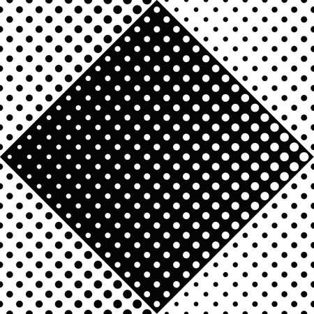 Geometrical dot pattern background - monochrome vector illustration