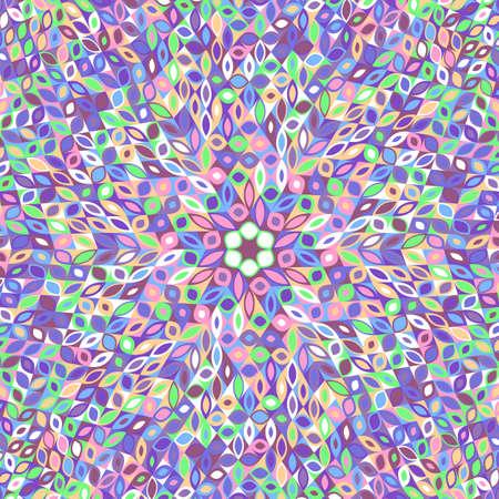 Dynamic colorful hypnotic tiled flower mosaic background design