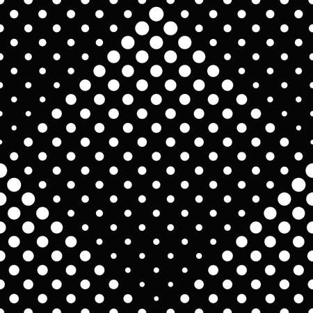 Black and white seamless abstract circle pattern background design Vecteurs