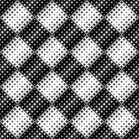 Geometrical black and white abstract star pattern background