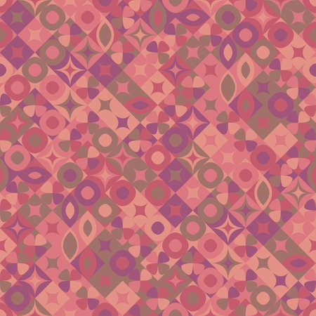 Abstract seamless colorful diagonal curved shape pattern background Ilustrace