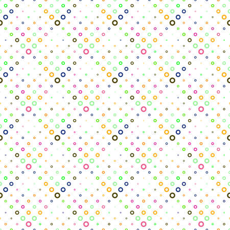 Geometrical colorful seamless ring pattern background design
