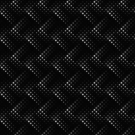 Seamless black and white circle pattern background Ilustrace