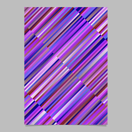 Gradient stripe poster template design - abstract vector stationery