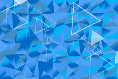 Gradient triangle polygon web background - abstract vector graphic design Ilustrace