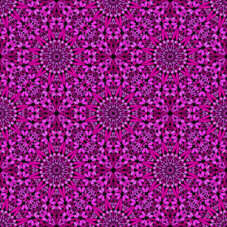 Abstract geometrical pink bohemian floral pattern background design
