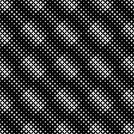 Geometrical abstract black and white star pattern background Ilustrace