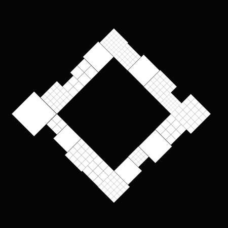 Diagonal minimal modern square badge background template Ilustrace