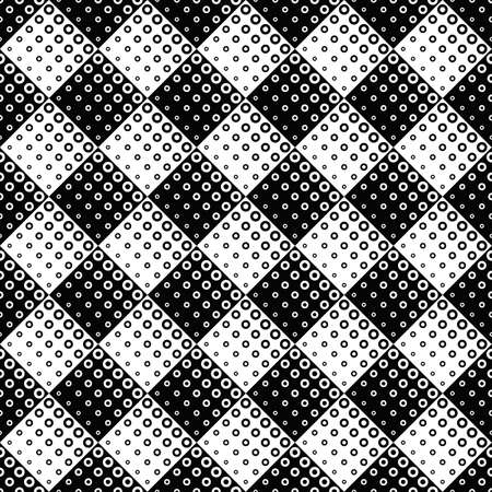 Seamless abstract monochrome ring pattern background design Ilustrace